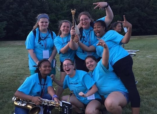 Port Huron band member Madison Thomas was excited she and her friends won the spirit stick this past school year.