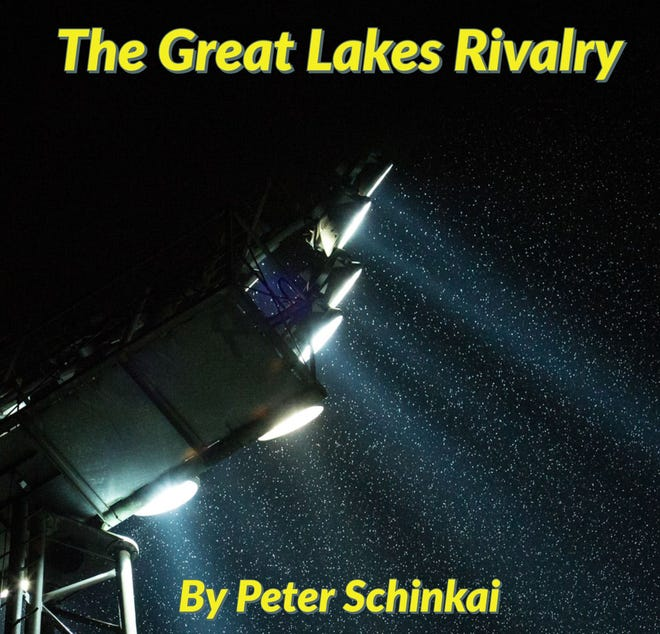 """""""The Great Lakes Rivlary"""" is a book by Kalamazoo resident Peter Schinkai."""
