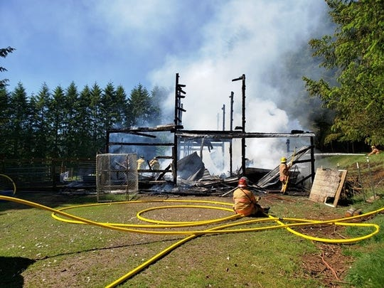 A barn fire at a farm south of Silverton claimed several livestock and destroyed $60,000 worth of farm equipment on May 27, 2020.