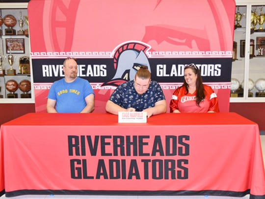 Riverheads' Gage Maxfield will be attending East Coast Prep to play football.