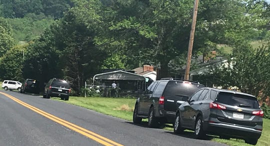 Authorities were at the Fadley Road home of New York shooting suspect Joshua Blessed on Friday afternoon in Weyers Cave.