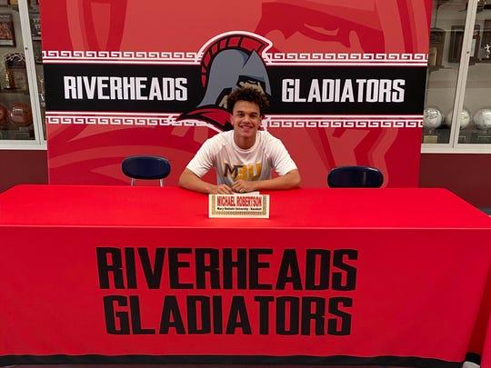 Michael Robertson, a Riverheads seniors, will be playing baseball for Mary Baldwin University next year.