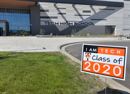 Tech High School hosted its graduation parade on Thursday, May 28, at Tech High School. It was a chance to celebrate the seniors accomplishments and hand them their diplomas with a virtual graduation ceremony on Thursday evening.