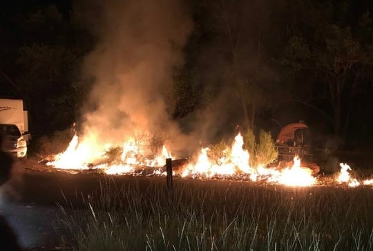 A small fire broke out in Zion National Park's Watchman Campground after midnight on May 25.