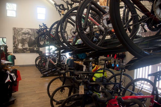 The Red Rock Bicycle Company in St. George, Utah, is one of the many bike shops seeing an influx in bike riders in recent months.