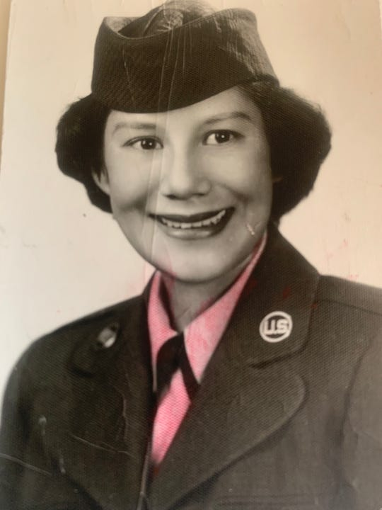 Maria Sargent, who died May 22, 2020, served in the Air Force for two years as a young woman.