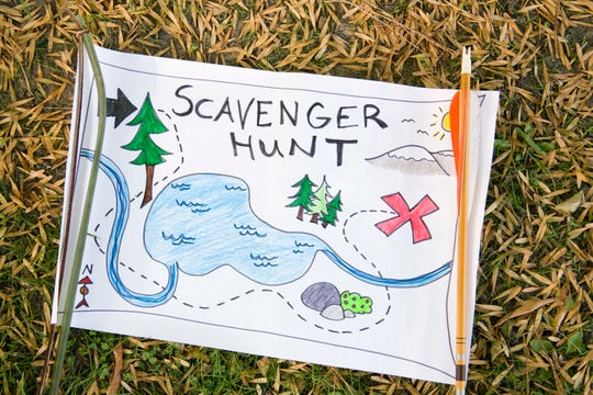A scavenger hunt map made by children