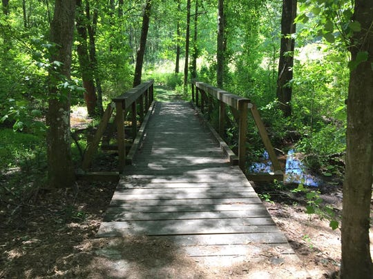 A bridge at Bunched Arrowhead Heritage Preserve