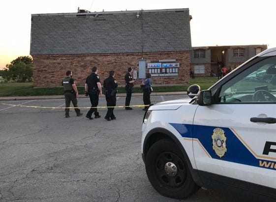 Wichita Falls police investigate a shooting the evening of May 28 at Maurine Street Apartments in the 1200 block of Ridgeway Drive as shown in this 2020 file photo.