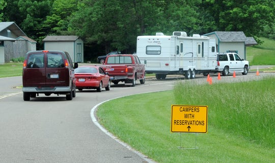 Campers line up to enter the campground at Dillon State Park in this TR file photo. The park is just one of several places residents and visitors can visit this summer.