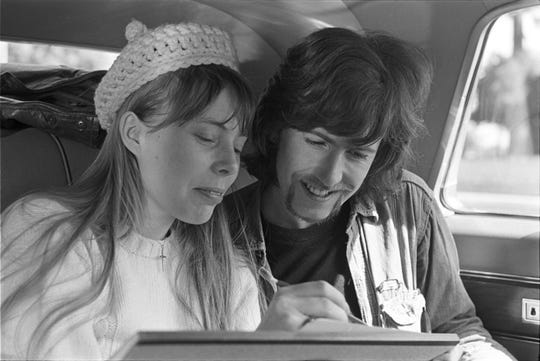 Joni Mitchell, left, and Graham Nash, who dated from 1968 to 1970.
