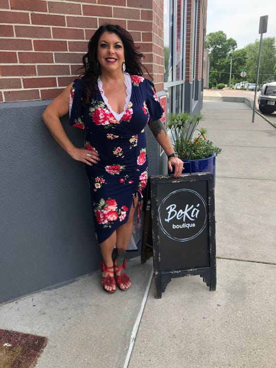 Customers can go maskless in Kellie Johnson's boutique.