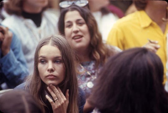"""The Mamas and the Papas members Michelle Phillips, left, and Cass Elliot, in a still from Epix documentary """"Laurel Canyon."""""""