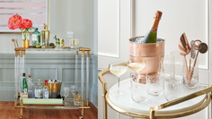 10 bar cart essentials to make Saturday nights fun again