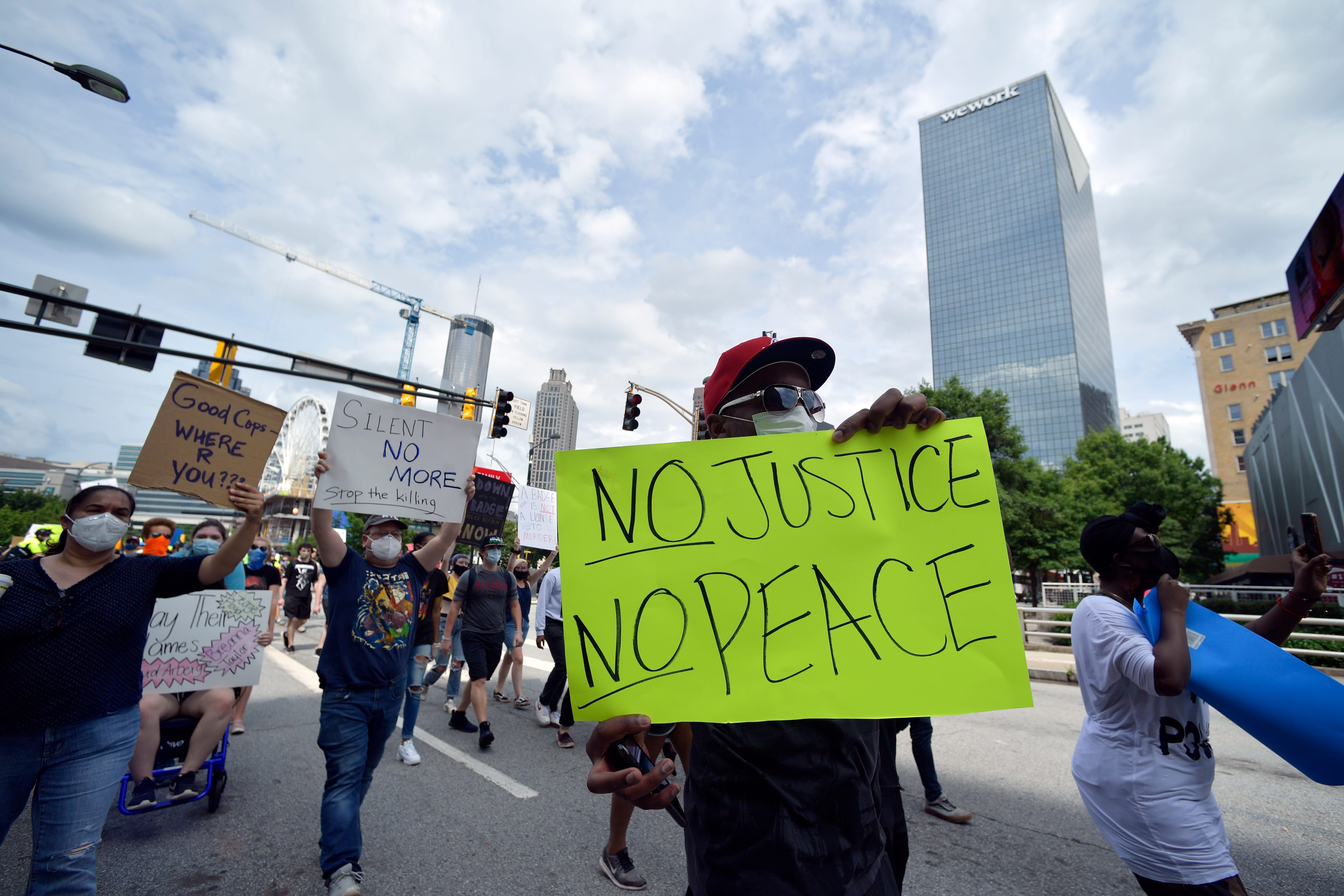 Black history is this country s history : George Floyd protests intensify across US, from Atlanta to Indianapolis to Tennessee