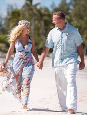 Krista and Ryan Burton were married in the Bahamas Nov. 4, 2017.
