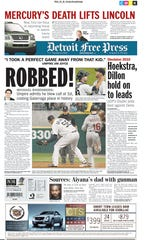 Detroit Free Press 1A front page on June 3, 2010.