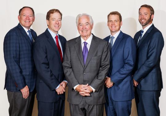 Left to right: Jim M. Nicholson; David Nicholson; James B. Nicholson; Tim Nicholson; and John Nicholson own PVS Chemicals headquartered in Detroit.