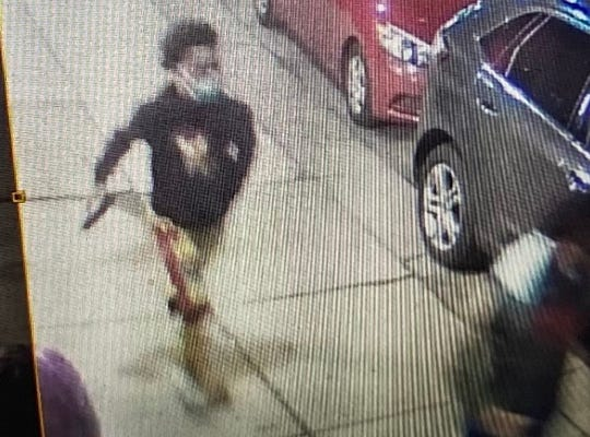 Detroit police officials are seeking the suspected shooter of a 21-year-old Eastpointe man on Friday night (May 29, 2020). He is pictured on the left.