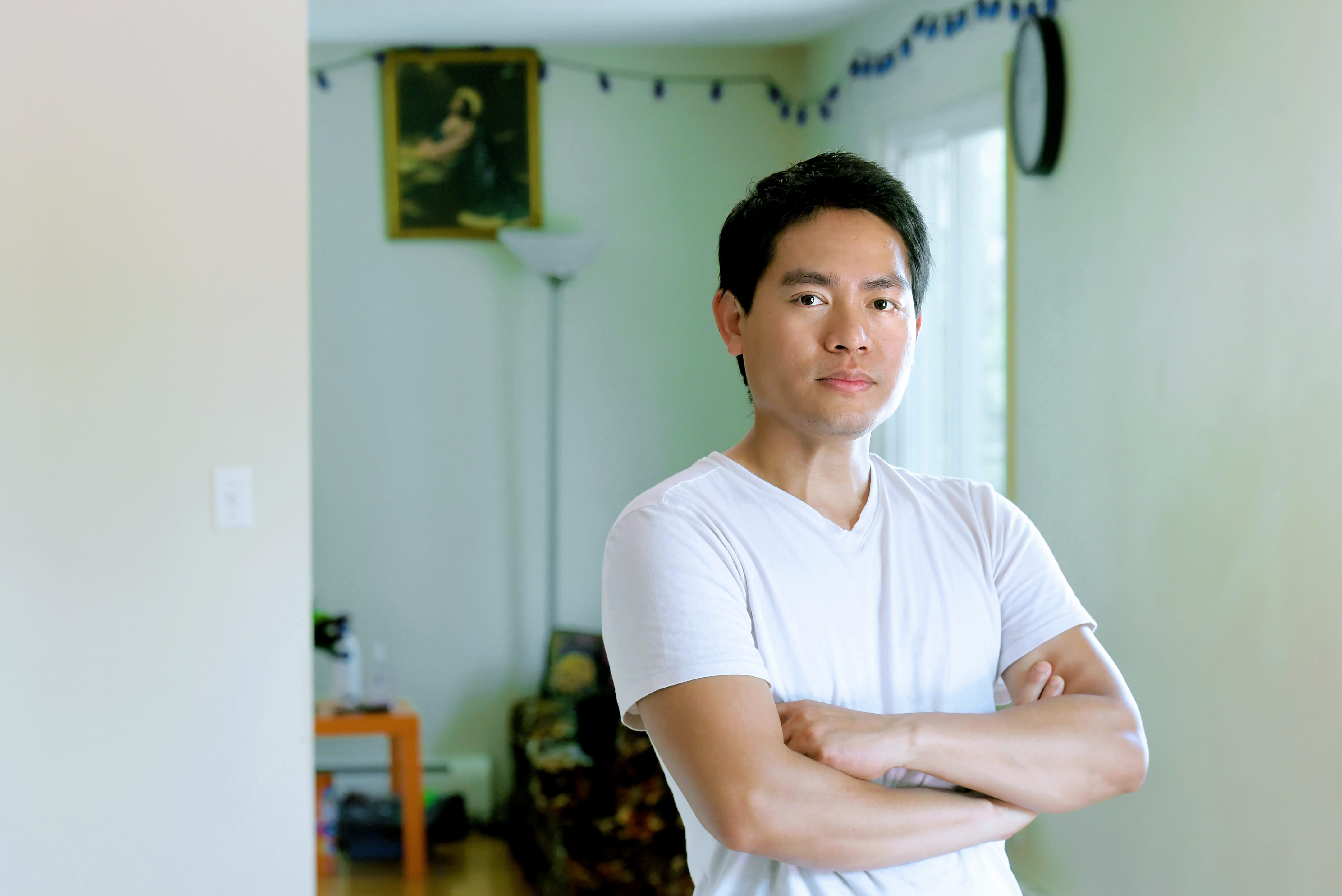 """Hsa Moo, 32, from Ithaca; lost work at Cornell University in Ithaca in March due to COVID-19. Hsa Moo, a Burmese/Karen refugee, has worked at Cornell's Statler Hotel since 2011. Recently purchased his first home, where he resides with his wife, his mother and his nephew. """"I do worry. I bought a house last year. And if this thing continues to happen, I might lose my house if I won't be able to pay the mortgage. We just have to pray right now and let God decide it for us what will happen next. I just have to wait when I will be able to return to work. It's not easy. I lived in a refugee camp before I got to the States. We faced a lot a problems over there but these problems, these challenges  are completely different from there, and we're kinda not ready. We never expect that we'd have these difficult times here but we're already in the situation so we just have to be strong. And pray."""""""