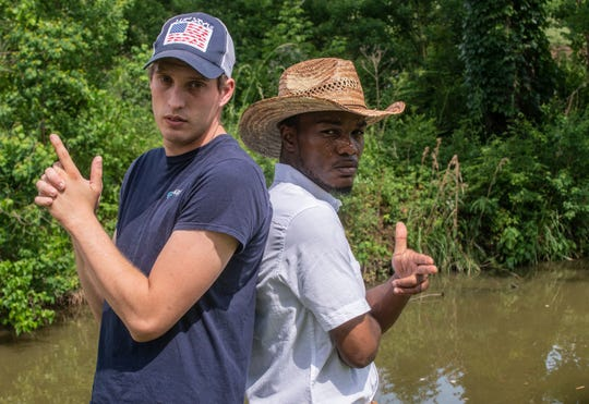 """Country singer Young DK, left, of Prattville and hip hop artist Yung 808 of Montgomery have a new country/hip hop song """"Saddle."""""""