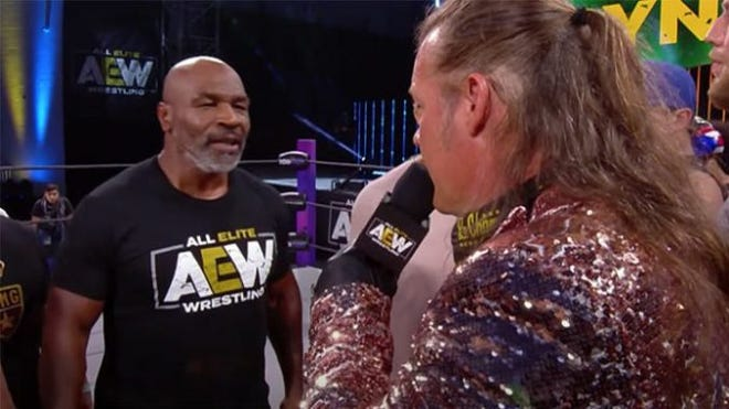 What type of match would Mike Tyson and All Elite Wrestling star Chris Jericho engage in?