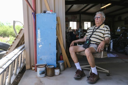 Eddie Bernal, 81, is pictured at his home in Las Cruces on Saturday, May 30, 2020, after being released from the hospital on a bill of good health and tested clear from COVID-19.