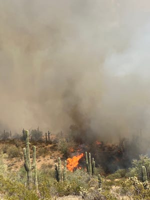 The wildfire has burned an estimated 750 acres of vegetation in Florence.