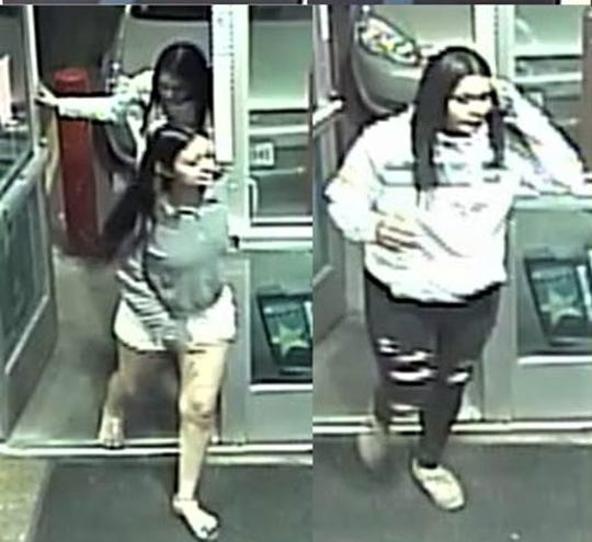 "Two young women suspected in a pair of ""beer runs"" thefts at 7-Eleven and Speedway stores on George Dieter Drive in East El Paso on March 20, 2020."