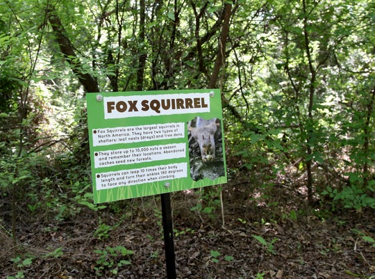 New educational signs were created for the nature trail Friday, May 29, 2020, at the River Bend Nature Center. The center raised the mone needed for the signs in three hours on Facebook.