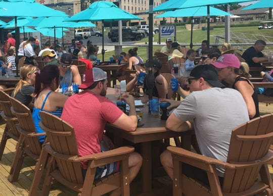 Memorial weekend crowds flocked to Eddy's Bar, part of the Shangri-La resort at Oklahoma's Grand Lake.