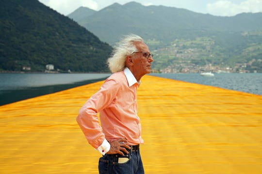 Christo at The Floating Piers,  June 2016.