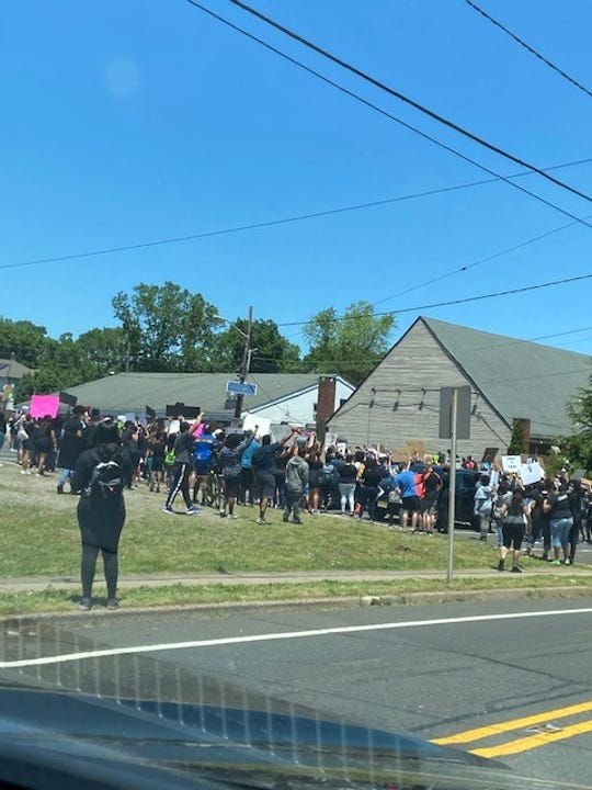 On Sunday, approximately 200 Franklin Township residents and concerned citizens marched in support of lives lost and the injustices throughout the nation.