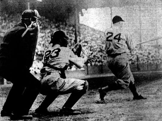 Pinch-hitter Dave Harris of the Washington Senators broke up Tommy Bridges' perfect game with two outs in the ninth on Aug. 5, 1932, at Navin Field in Detroit.
