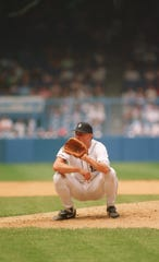 Mike Moore nearly threw a perfect game in his 28th start with the Tigers in 1993, beating the Athletics, 9-0, on Aug. 23, 1993