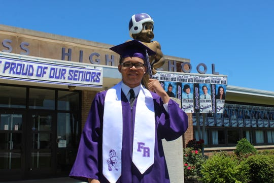Fremont Ross High School celebrated its 2020 commencement Sunday for 243 graduates. Students and their families gathered at Fremont Ross before departing a parade route through the city. Residents cheered for the students along the route, with some holding up signs or putting up displays in their yards to honor the graduates. The Fremont Ross commencement ceremony was held at Grace Community Church's back parking lot.