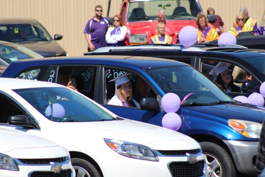 Fremont Ross HIgh School holds its 2020 commencement ceremony Sunday at Grace Community Church's back parking lot.