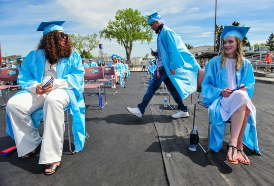 Great Falls High School honors 253 graduates in the Class of 2020 in Saturday's graduation ceremony at Montana ExpoPark on Saturday afternoon, May 30, 2020.