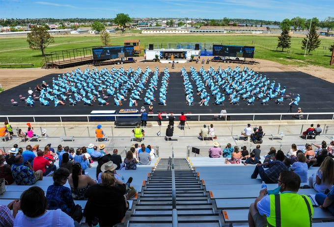 Great Falls High School honored 253 graduates in the Class of 2020 during Saturday's graduation ceremony at Montana ExpoPark on Saturday afternoon, May 30, 2020.