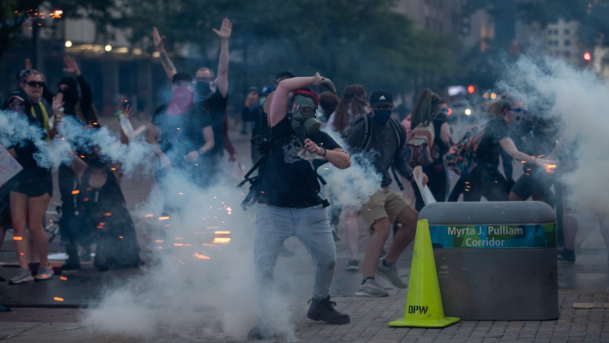 indianapolis downtown protests violence police racial unrest