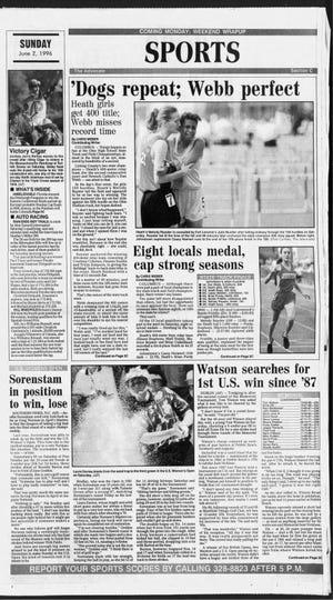 Heath's girls 400 relay and Newark Catholic's Dan Webb won Division III state titles.