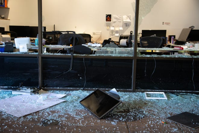 Property damage from overnight vandalism and looting at Zivelo on May 31, 2020, at Scottsdale Fashion Square.