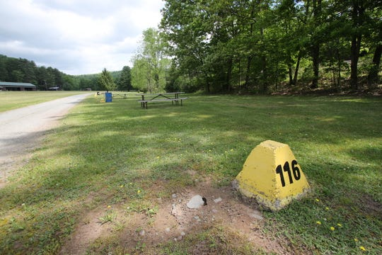 A safe distance is maintained between campers at the campground.