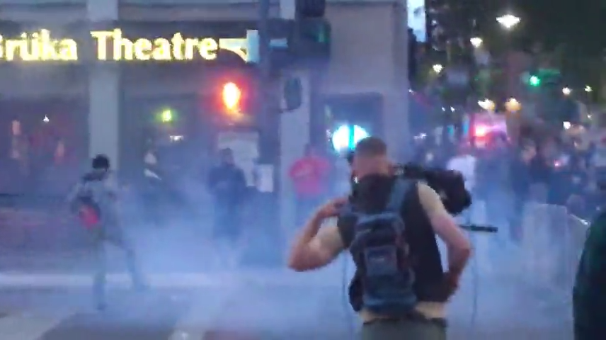 Tear gas fired at protesters in downtown Reno