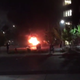 A car was set on fire in downtown Reno Saturday May 30 after protests turned violent.