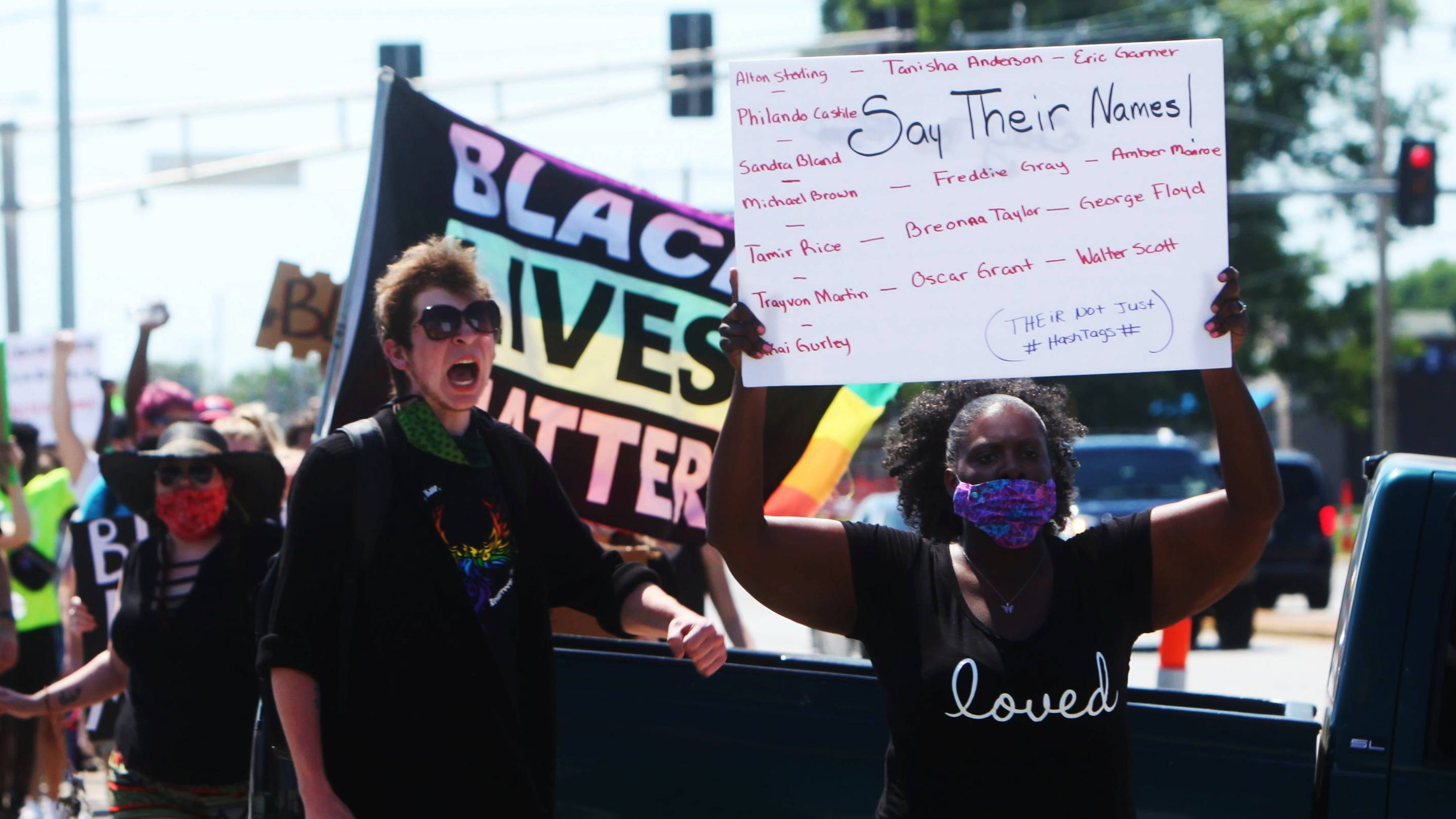 Protests continue into Sunday