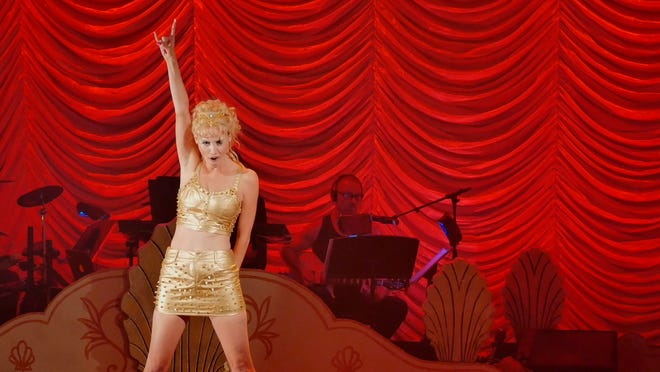 """April Kidwell plays Nomi Malone in the stage production of """"Showgirls! The Musical!"""" as featured in the documentary """"You Don't Nomi."""""""