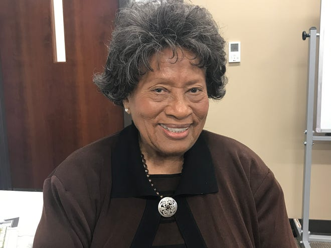 Dr. Joycelyn Elders, former Surgeon General under President Bill Clinton, is shown at HealthWatch USA conference in 2018.