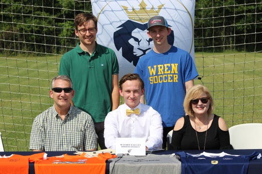 Wilson Garand (Wren HS) will continue his soccer career at Anderson University.