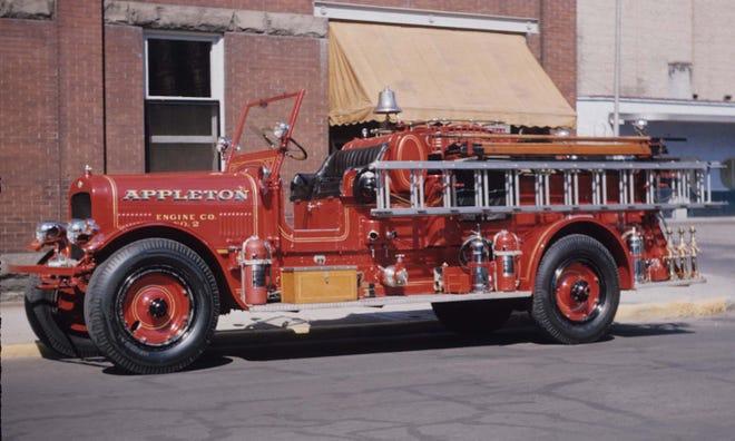 The restoration of Appleton's Old Engine 5 pumper truck, shown here in the 1950s, is underway in Bristol, Wis.